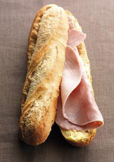 Snack maison du Restaurant Le Saint-Hubert de Briare : le grand classique français Jambon cuit, beurre