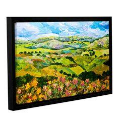 ArtWall Allan Friedlander 'Half Way Home' Gallery-wrapped Floater-framed