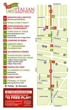 Italian Market Festival 2014 is this Sat May 17 - Sun May 18, 10am - 5pm rain or shine, in the open air, under our awnings, in our shops, and in our many eateries. #SEPTA