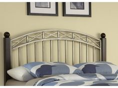 Bordeaux Queen/Full Headboard Model #: 5052-501 Transitional design characteristics are highlighted in the Bordeaux Queen/Full Headboard Home Styles. Finished in a Brushed Antiqued Pewter finish, the powder-coated steel metalwork complements the deep tones of the rich Espresso finish over birch veneers.