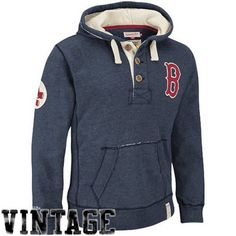 Mitchell & Ness Boston Red Sox Cooperstown Collection Playmaker Hoodie - Navy Blue