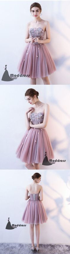 Cute Homecoming Dresses Sweetheart Short Prom Dress Strapless Formal Dress,HS511 #fashion#promdress#eveningdress#promgowns#cocktaildress