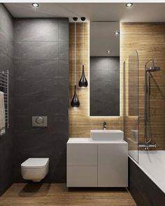 Dreaming of a luxury or designer bathroom? We've gathered together lots of gorgeous bathroom ideas for small or large budgets, including baths, showers, sinks and basins, plus bathroom decor ideas. New Bathroom Designs, Bathroom Design Luxury, Modern Bathroom Design, Bathroom Ideas, Modern Design, Bathroom Layout, Bad Inspiration, Bathroom Inspiration, Interior Inspiration
