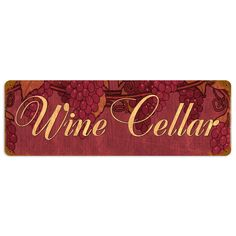 This Wine Cellar vintage metal sign measures 24 inches by 8 inches and weighs in at 2 lb(s). We hand make all of our vintage metal signs in the USA using heavy gauge American steel. These metal pri...