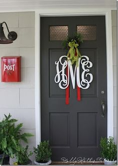 Monogrammed wreath/door decor