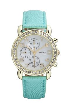 Tiffany Blue watch From Nordstrom only $18 - Click image to find more Women's Fashion Pinterest pins