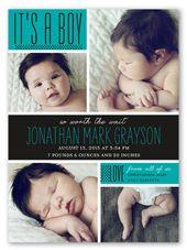 Boy Birth Announcements & Baby Birth Announcement Cards   Shutterfly