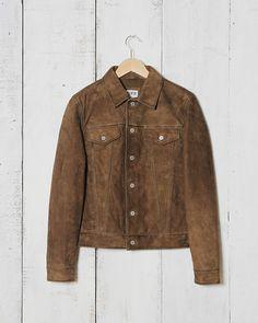Edwin Rider Jacket - Dark Brown Suede