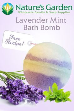 Free Lavender Mint Bath Bomb Recipe by Natures Garden