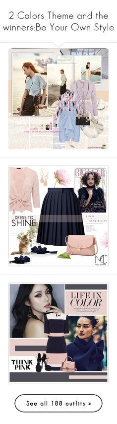 """2 Colors Theme and the winners:Be Your Own Style"" by rainie-minnie ❤ liked on Polyvore featuring Olsen, Marina Hoermanseder, Mother of Pearl, Fleur du Mal, GUESS, Salvatore Ferragamo, Ilia, Philip Kingsley, Carvela and nudepumps"