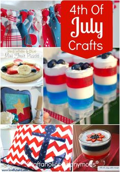 23 Creative ideas for the 4th of July! Includes, crafts, food, home decor, printables, and more.