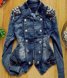 fantabulous embellished jean jacket!