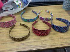 Duct tape headbands