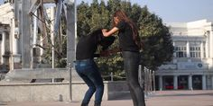 209. Two Desi Girls Fighting In The Park Hair Lengthening, Girl Back, Girl Fights, Bodysuit Fashion, College Girls, Indian Beauty, Lesbian, Desi, Leather Pants