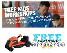 FREE $$ Reminder: Build a Riding Lawn Mower at Home Depot Kids Workshop – TODAY Only (6/7)!