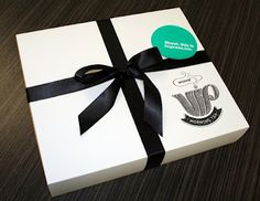 What a great way to thank your clients.....with a VIP box.   Clever design WAVE.