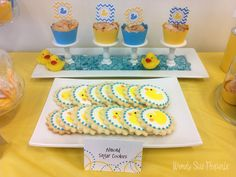 Rubber Ducky  Baby Shower Printables by WendySuePaperie on Etsy