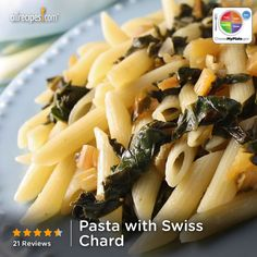 Pasta with Swiss Chard from Allrecipes.com #grain #veggie