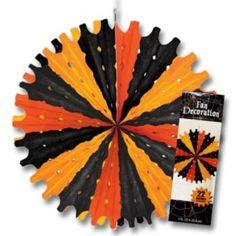 Black & Orange  Tissue Fan