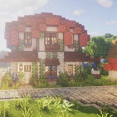 Minecraft House Plans, Minecraft Mansion, Easy Minecraft Houses, Minecraft House Tutorials, Minecraft Room, Minecraft House Designs, Amazing Minecraft, Minecraft Tutorial, Minecraft Blueprints
