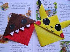 DIY Domo and Pikachu Bookmarks; Kawaii Back to School - YouTube