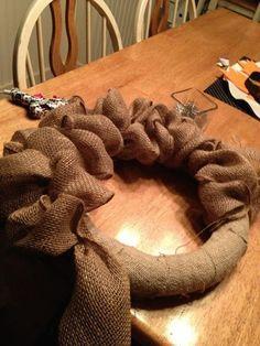 Burlap Wreath (Tutorial) on foam base!