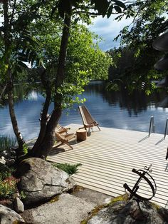 Finnish summer house... Gazebos, Lake Dock, Summer Cabins, Lake Cabins, Cottage, Cabins In The Woods, Outdoor Living, Lakeside Living, Outdoor Spaces