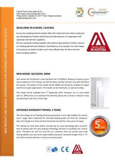developed-in-austria-infrared-heater-by-celine-infrapower-infrared-heater by Marina Infocenter via Slideshare