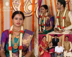 Our bright eyed bride Gauri, in #KanchivaramSaree from Angadi's exclusive designer line, Advaya on her big day! Thank you Gauri for trusting us on your big Day! #thankyou #clientsuccess#customersatisfaction #blessed #happy #sarees#sareelove #angadigalleria #handloom#iwearhandloom #TheHouseofAngadi #Bangalore#Karnataka #wedding #bigfatindianwedding