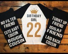 Birthday Girl Shirts Squad Shirt Friend Womens
