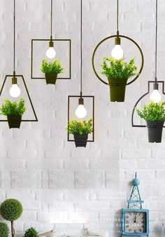Balcony garden 495818240228814822 - Fresh Aritificial Plants Vintage Ceiling lights Hanging Lamps Fixtures Pendant Balcony Garden Shop Room Decor (with the fake plant and pot) Source by wishapp Window Hanging, Diy Hanging, Hanging Plants, Indoor Plants, Potted Plants, Hanging Succulents, Tomato Plants, Succulent Plants, Green Plants