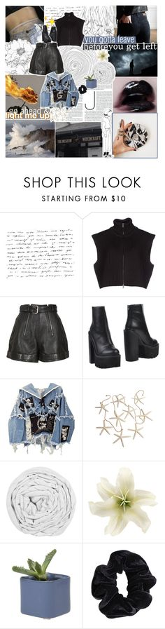 """""""♡ I DID SOMETHING BAD"""" by thundxrstorms ❤ liked on Polyvore featuring Maison Margiela, Carven, Jeffrey Campbell, BLK DNM, The Fine Bedding Company, Dot & Bo and American Apparel"""