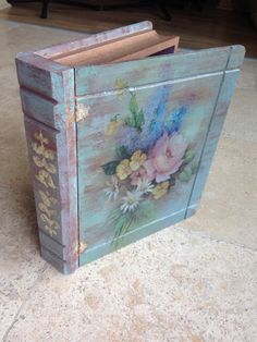 Wood painting box Ahşap boyama kitap kutu