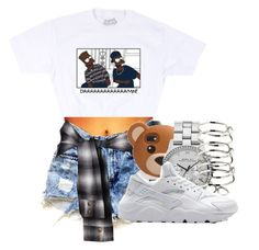 """""""DAAAAAAAAAMN!"""" by champangemamii ❤ liked on Polyvore featuring Levi's, Marc by Marc Jacobs, H&M and NIKE"""