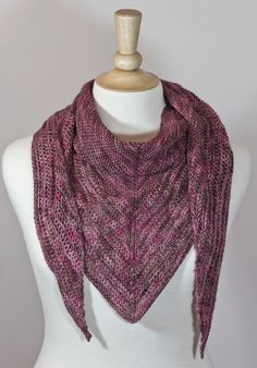 Looking to bust your stash? Check out this one skein knit scarf pattern.