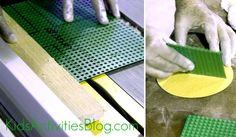 lego table cutting baseplates 2