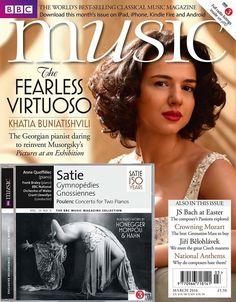 Khatia Buniatishvili on the cover of BBC Music Magazine | March 2016 Issue