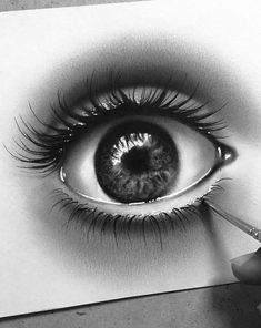 How to draw a realistic eye! Part 12 36 Awesome Eye Drawing Images ! How to draw a realistic eye! Part eye drawing tutorial; Dark Art Drawings, Pencil Art Drawings, Cartoon Drawings, Eye Sketch, Woman Sketch, Eye Drawing Tutorials, Drawing Techniques, Drawing Ideas, Portrait Sketches