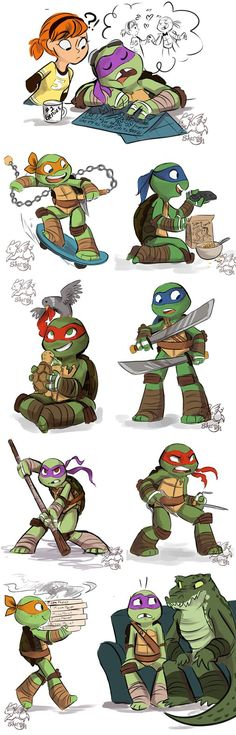PTMNT (PreTeen Mutant Ninja Turtles) by sharpie91