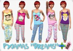 Annett`s Sims 4 Welt: Pajamas dreams • Sims 4 Downloads