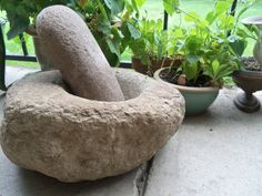 LargeNative American Stone Mortar and Pestle by bettyrayvintage, $1100.00