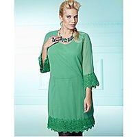 Crochet Trim Tunic Dress - Large Size Clothing and Maternity Wear - www.plussizedglamour.co.uk