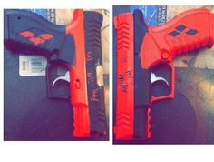 harley quinn gun prop - Google Search i should do this with my air soft guns!