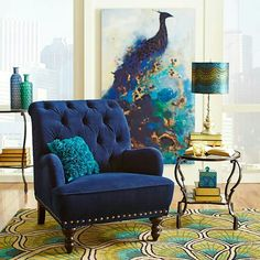 Peacock Living Room Decor parts can add a touch of favor and design to any house. Peacock Living Room Decor can imply many things to many people… Peacock Living Room, Peacock Bedroom, Living Room Decor, Bedroom Decor, Peacock Room Decor, Decor Room, Peacock Chair, Bedroom Ideas, Dining Room