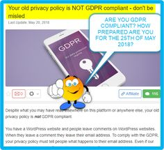 Your old privacy policy is NOT GDPR compliant - don't be misled Privacy Policy, Writing, Reading, Reading Books, Being A Writer