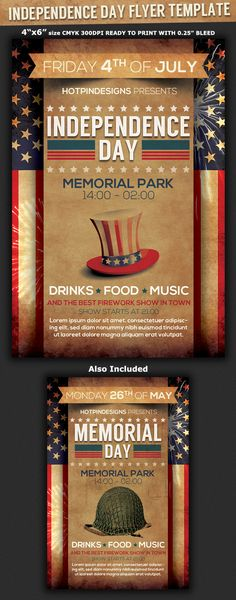 Independence Day flyer Flyer template, Event flyer templates and - independence day flyer