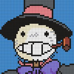 Turnip Head From Howl's Moving Castle Perler Bead Pattern / Bead Sprite