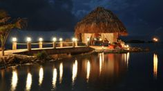 Spend a romantic dinner in a private palapa at the Old Man and the Sea restaurant.