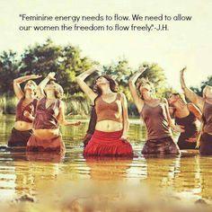 Feminine energy needs to flow. We need to allow our women to flow freely.H… – Tybalt Creamer - Valentines Sacred Feminine, Feminine Energy, Attitude Positive, Divine Goddess, Yoga, Woman Quotes, Wild Women Quotes, Instagram, Femininity