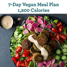 7-Day Vegan Meal Plan: 1,200 Calories - EatingWell.com